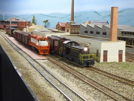 There will be lots of working model railroad layouts at Saturday's show.