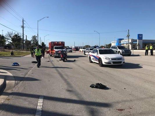 Motorcycle crash on U.S. 1