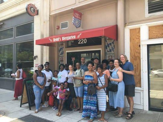 A stop on the Nom Nom Newark tour at Redd's Biergarten.