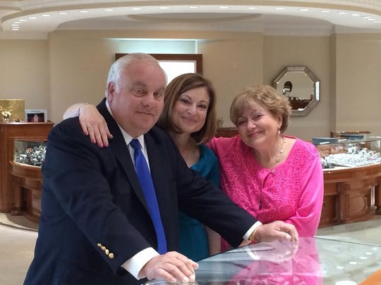 Roman Jewelers founders Roman and Sophie Shor are pictured with their daughter and general manger, Lucy Zimmerman. The Shors will close their Flemington location this spring or summer and consolidate their Bridgewater location.