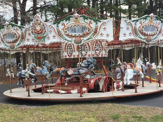 The carousel that sat in Perdue Stadium for more than