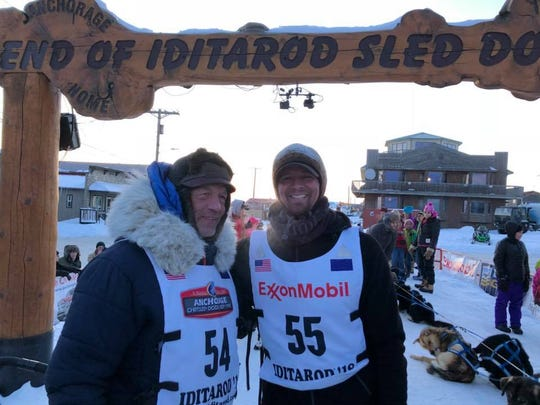 Matthew Failor at the 2018 Iditarod in Alaska.