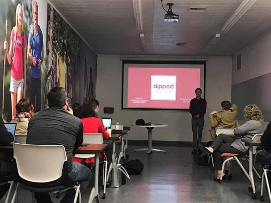 Entrepreneurs and community members share ideas and experiences at a 1 Million Cups event in Tallahassee. 1 Million Cups is a free, bimonthly program developed by the Kauffman Foundation helps build startup communities nationwide.