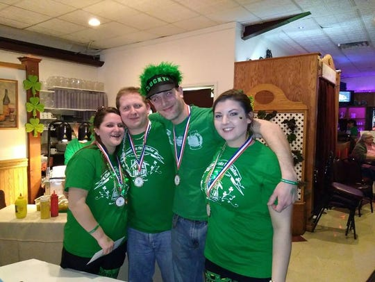"""Pictured are the winners of The Havens' first """"Shamrocks"""