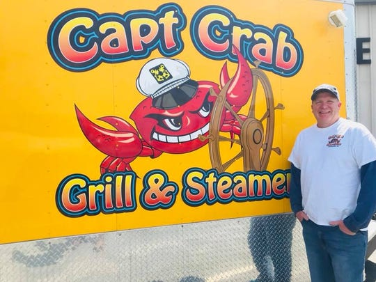 Mike Gurreri, owner of Captain Crab food truck, will