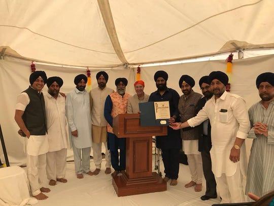 Saturday's groundbreaking ceremony of the Guru Nanak