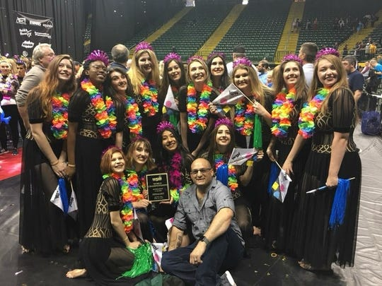 The Damonte Ranch Winter Guard team placed 21st (out