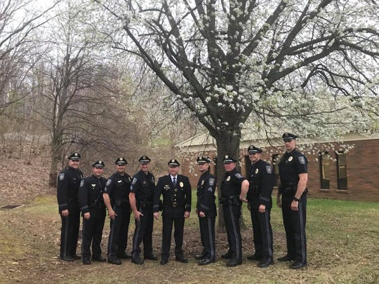 Newberry Township welcomed its newly sworn in chief-of-police. (Jana Benscoter/photo)