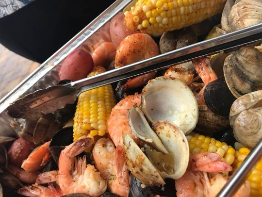 Clams, shrimp, mussels, corn and potatoes from Indialantic
