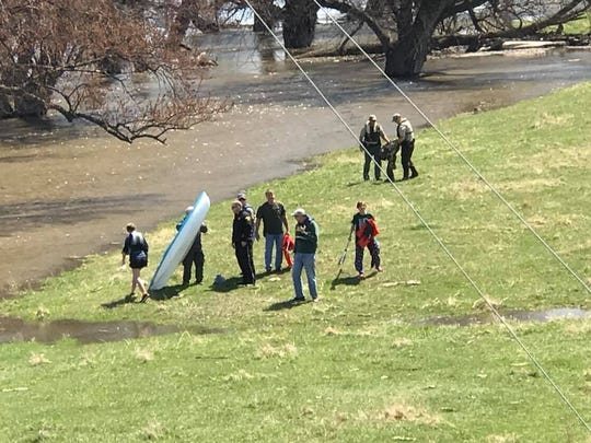 Pictures from a water rescue on April 29, 2018 in the