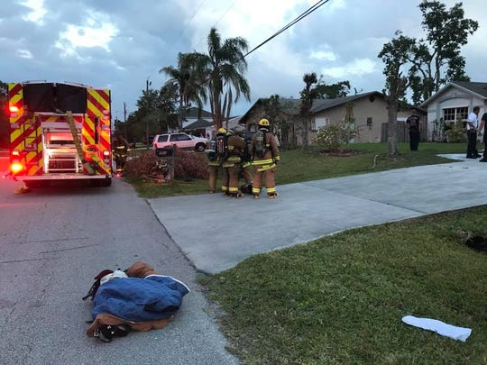 St. Lucie County Fire District crews respond to a house