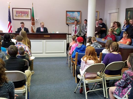 Participants in Take Our Daughters and Sons to Work Day attend a Board of Commissioners meeting the morning of Thursday, April 26. The event gave more than 70 children of county employees the chance to learn more about jobs within the county, and why each one is important.