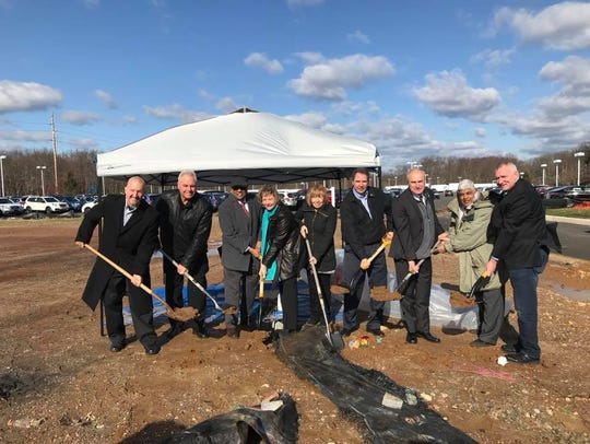 Old Bridge Mayor Owen Henry and others broke ground