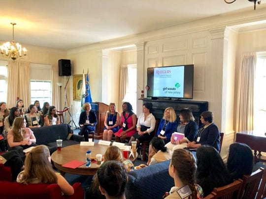 Girl Scouts of New Jersey & Center for American Women & Politics held a collaborative leadership program for girls interested in politics, government and civic engagement.
