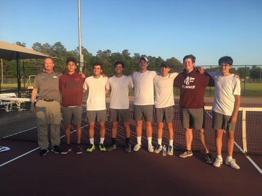 Chiles' boys tennis team after capturing a regional