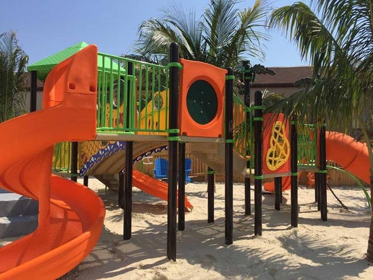 The playground at the new Tailchasers Restaurant & Dock Bar near 123rd Street in Ocean City.