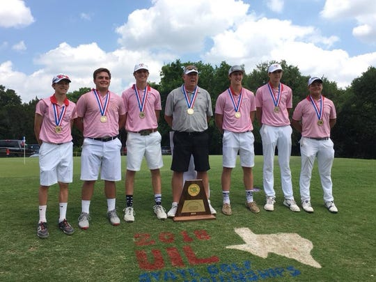 The Garden City High School boys golf team poses with