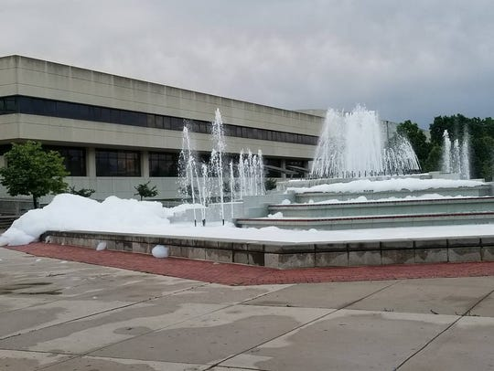 Soapy bubbles found Thursday at Missouri State University.