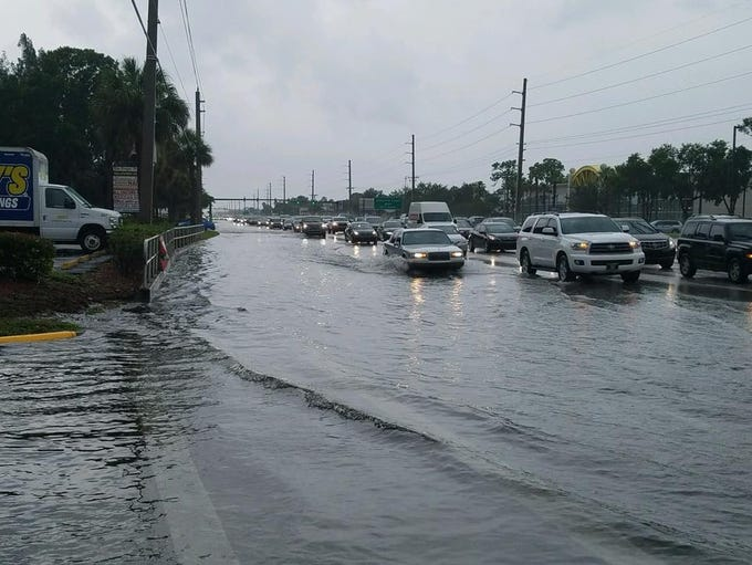 U.S. 1 at Jensen Beach Boulevard flooded during storms