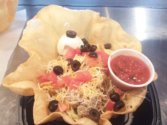 The taco salad from Hernandez Mexican Deli is one of