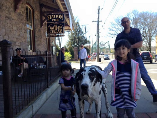 Dogs at the Lambertville Station.