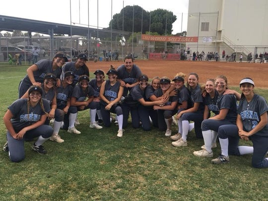 The Buena High softball team poses for a pitcure after