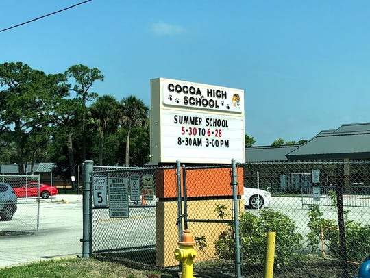 Before 1970 when Cocoa High School moved into its current