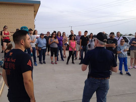 District 3 Las Cruces City Councilor Gabe Vasquez led a 1-mile Safety Walk along Nevada Avenue with the Las Cruces Police Department, Bellamah neighborhood residents, Lynn Community School teachers and staff and community leaders.