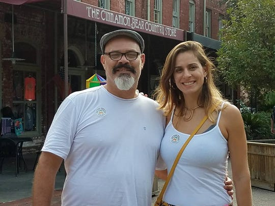 Engagement Editor Isadora Rangel and her father Fernando during a trip to Savannah, Georgia, in 2017