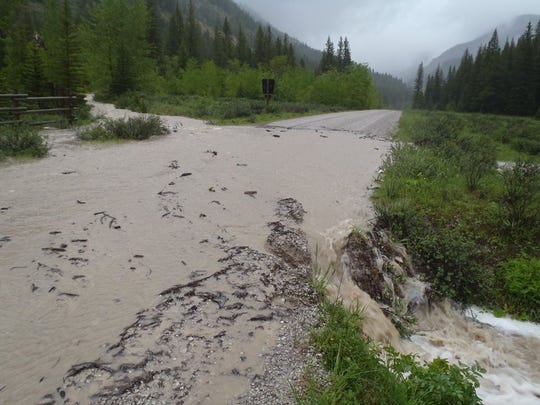 Benchmark and Beaver-Willow roads are among those washed