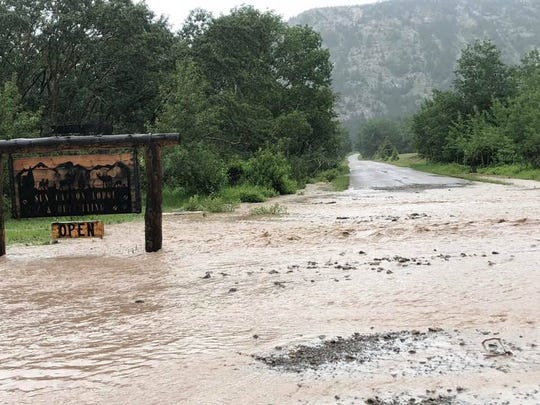 Roads are washed out near the Sun Canyon Lodge on the Rocky Mountain Ranger District. The water is overflowing from the following creeks: Blacktail, Hannan Gulch, and Home Gulch.