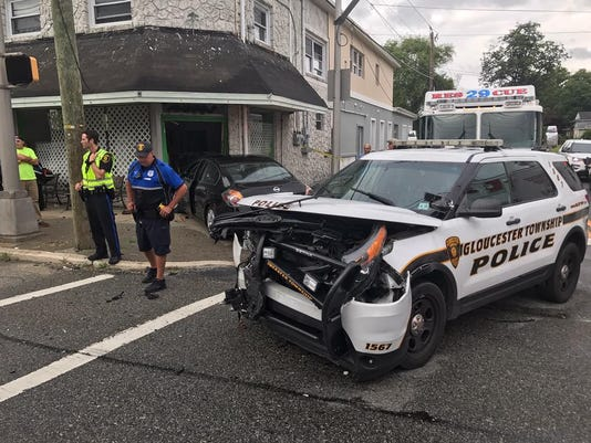 Gloucester Township Police Crash