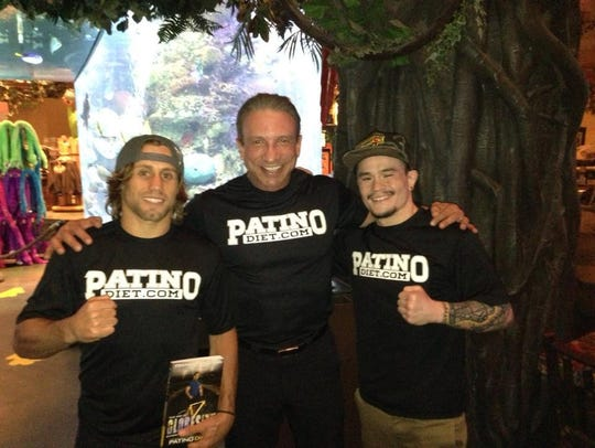 UFC fighter Urijah Faber, left, Dr. Frank Patino and