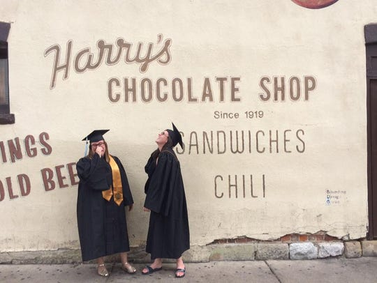 Harry's Chocolate Shop was a college favorite for J&C staffer Jillian Ellison, on the right, and her pal, Linzy Bradley. A couple years after graduating, it's still one of her favorite places.