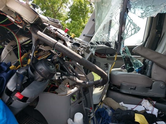 A truck and tractor trailer collided in Pocomoke City