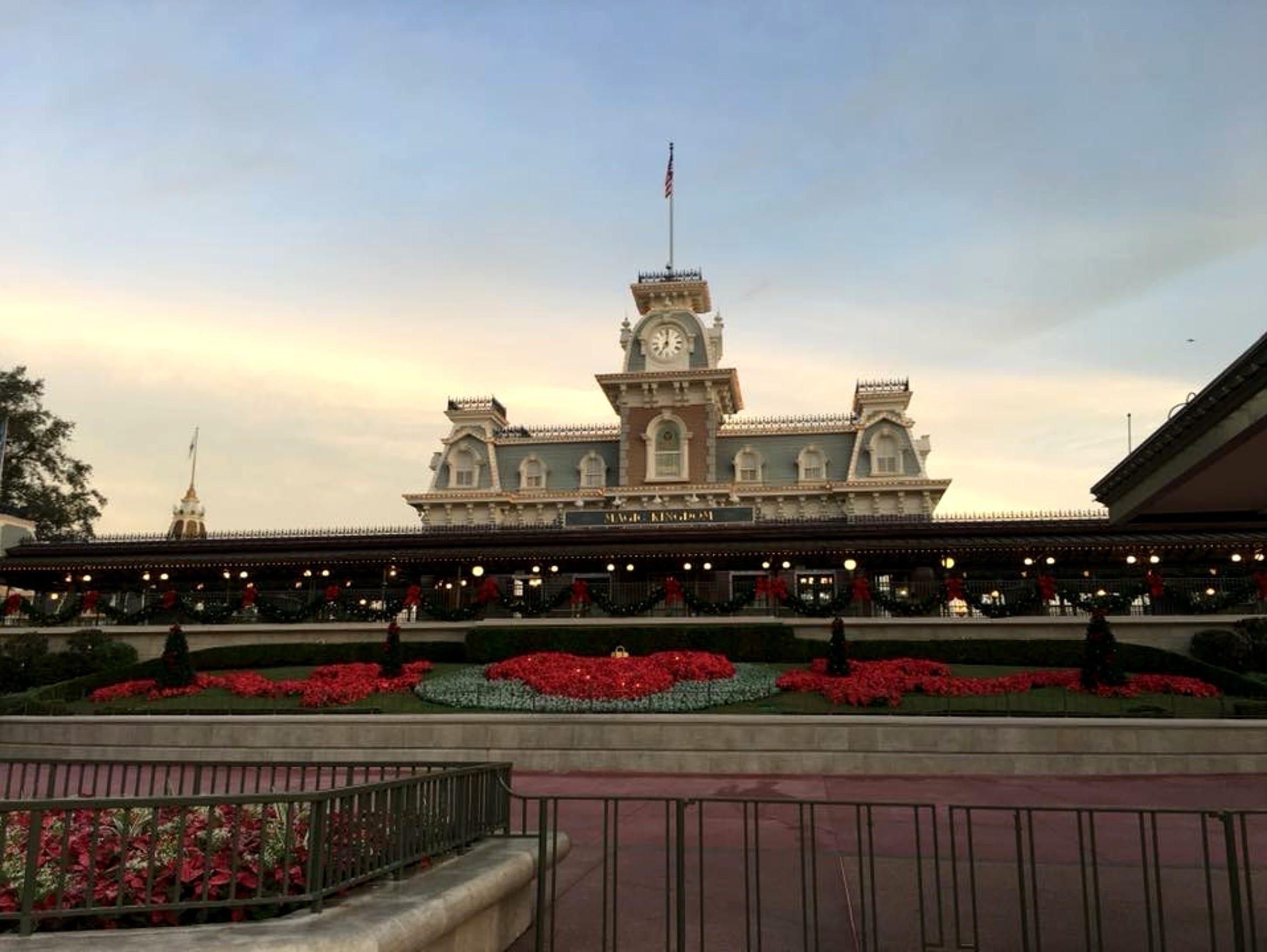 The entrance to Disney World's Magic Kingdom.