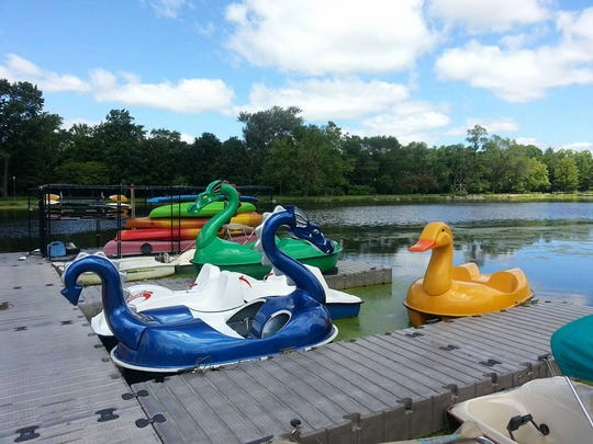 The Frame Park High Fun Rentals location in Waukesha offers special character boats for rental. However, they will not be available at the Menomonee Park location.