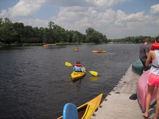 High Roller Fun Rentals will have kayaks at its Menomonee Park location, like the ones seen here at Frame Park.