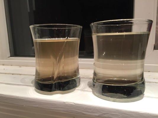 Brown water in Webster