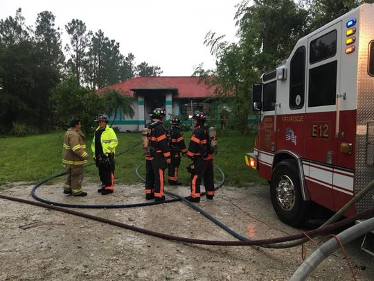North Collier and Greater Naples Fire Rescue District crews put out a house fire on the 2700 block of Randall Boulevard in Golden Gates Estates.