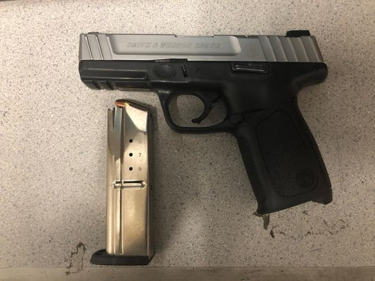 The pistol Salinas police say they found in Ivan Rico's