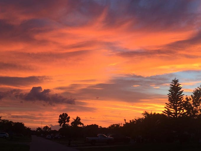 This stellar sunset photo was captured in Cape Coral