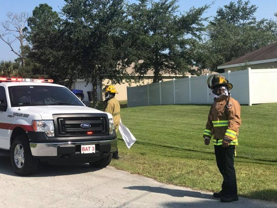 St. Lucie County firefighters responded to a report