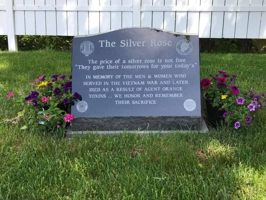 The Silver Rose Monument, a tribute to servicemen and