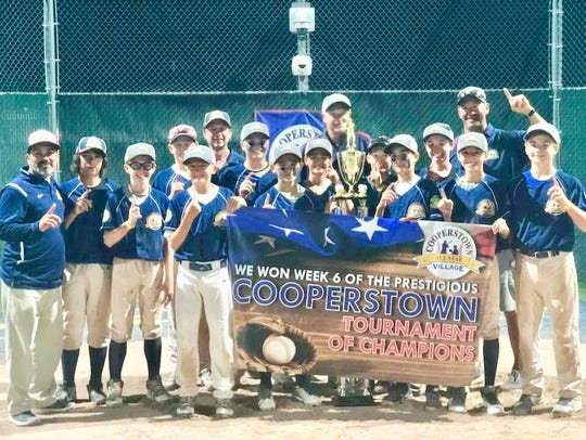 The 12-U Rochester Rays went 10-1 to win a recent national tournament in Cooperstown, N.Y.