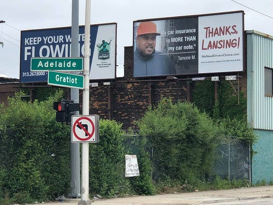 New Detroit billboards push auto insurance reforms.