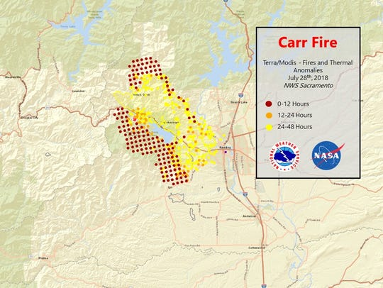 Carr Fire More Than Twice The Size Of Redding Grows To 83 800 Acres
