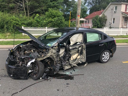 A car and a school bus crashed on Route 306 in Wesley