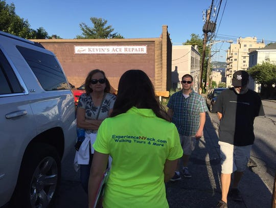 A tour at Experience NYack.Laura Carpentier began the