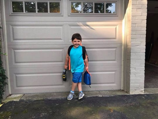 Jaxon, 5, gives a big smile. He lives with his Great